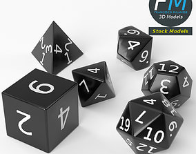 3D model RPG dice set