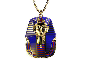 King Tut Pendant 3D print model enamel