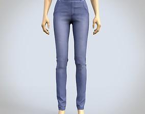 female jeans denim pants 3D