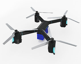 3D model Cargo Quadrocopter Dron Concept