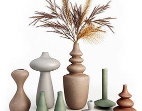 Set of ceramic vases 3D