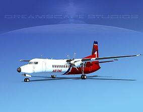 3D model Fokker 50 AirOne