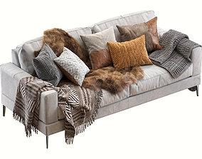Capri sofa 210 cm 3D model
