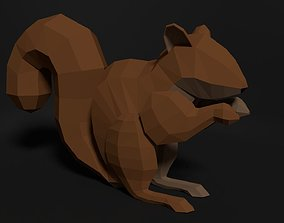 3D asset Low poly rigged SQUIRREL