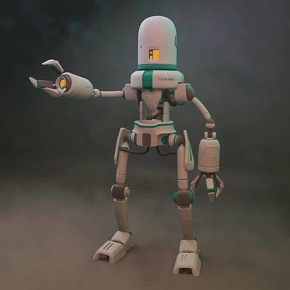 Simple sci-fi robot