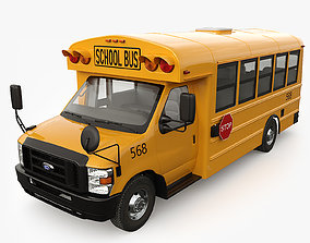 3D model Ford E-Series School bus Type A