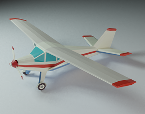 3D asset game-ready airplane lowpoly