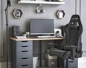 3D Office workplace 35