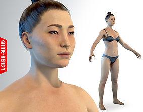 3D model game-ready Average Asian Female Body
