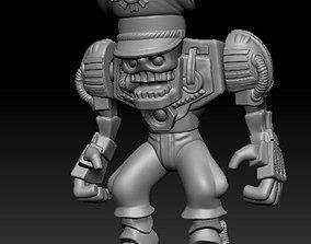 Toy warrior 3D print model