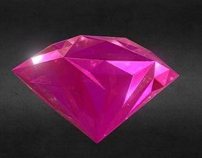Game-Ready Pink Red Topaz Precious Gem 3D model