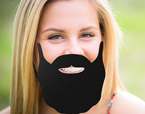 Beard stick 3D printable model fashion-challenge