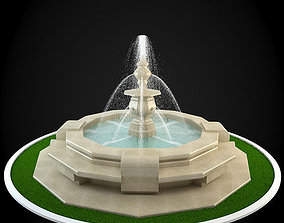 3D building garden Fountain