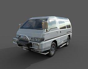 Low Poly Car - Mitsubishi Delica Star Wagon 1986 3D asset