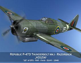 Republic P-47D Thunderbolt MK I - HD154 3D model