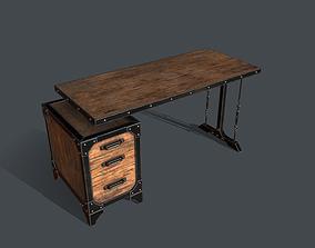 3D model Industrial Style Desk