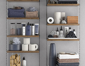 Bathroom set 8 organizer 3D model