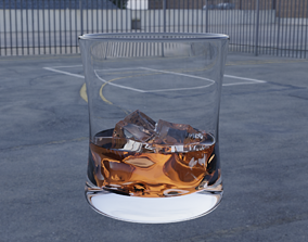 3D model Glass of Whisky