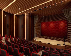 3D asset Auditorium VR AR Game Ready