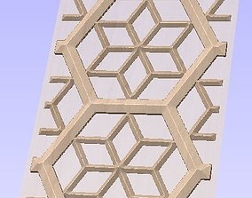 Jally design in sand stone 3D model
