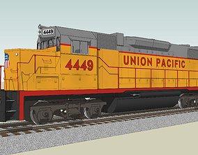 Train Engine - Union Pacific Railroad - EMD GP38 3D