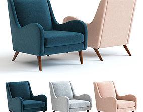 3D model West Elm Sebastian Chair