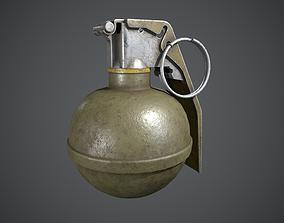 M67 Grenade blast 3D model low-poly PBR
