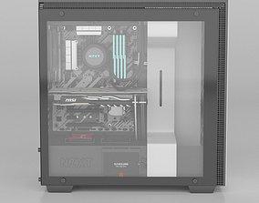 3D component NZXT H700 i PC decktop
