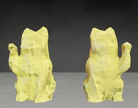 Photoscanned Maneki Neko Lucky Cats low 3D print model