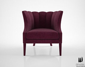 Brabbu Begonia armchair 3D model