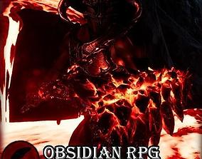 3D asset Obsidian RPG Weapons- UE4 FBX