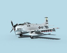 Douglas A-1H Skyraider USN Midway 3D