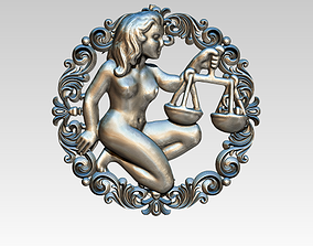 Libra HighDetailed Pendant 3D printable model
