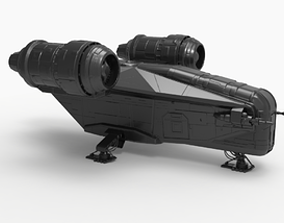 3D printable model The Mandalorian ship Razor Crest
