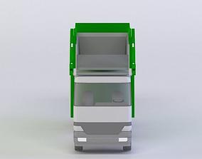 realtime GARBAGE TRUCK 3D MODEL