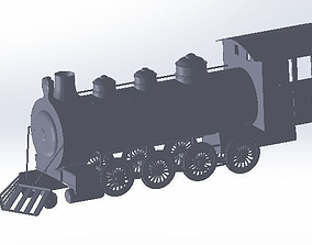 3D print model steam train