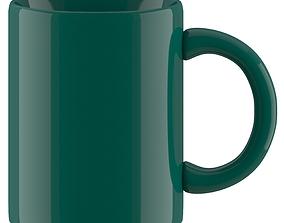 Coffee Mug dark green 3D model