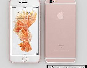 gray Apple Iphone 6s Rose Gold 3D model