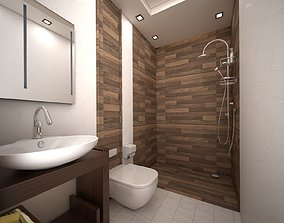 3D simple bathroom