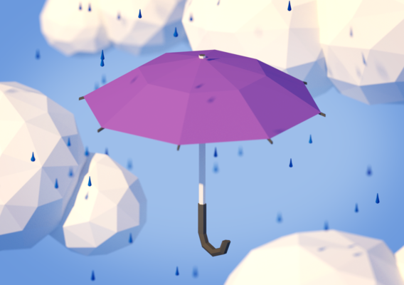 Low Poly Umbrella