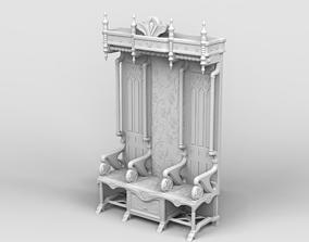Medieval throne 3D printable model