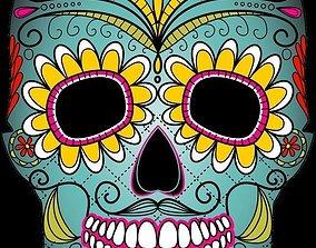 3D Day of the Dead skull mask