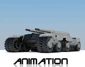 Tank with animation 3D