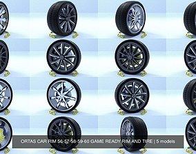 3D model ORTAS CAR RIM 56-57-58-59-60 GAME READY RIM AND