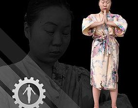 Female Scan - Lily Kimono Costume 2 3D model