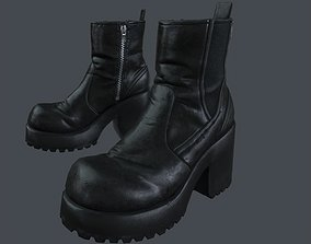Female boot 1 - Game ready 3D model game-ready