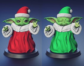 3D printable model Green Baby - Santa Outfit