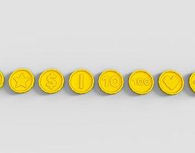 Gold Coins Pack 3D model