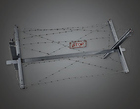 3D asset Barbed Wire Stop 01 - MLT - PBR Game Ready