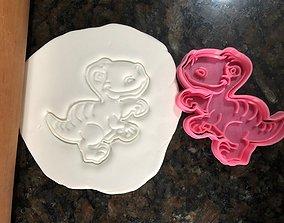 Tyrannosaurus Rex cookie cutter 3D print model TREX